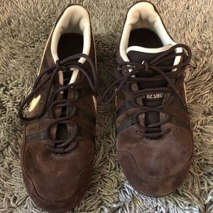Nike keshox brown suede like outer shoes